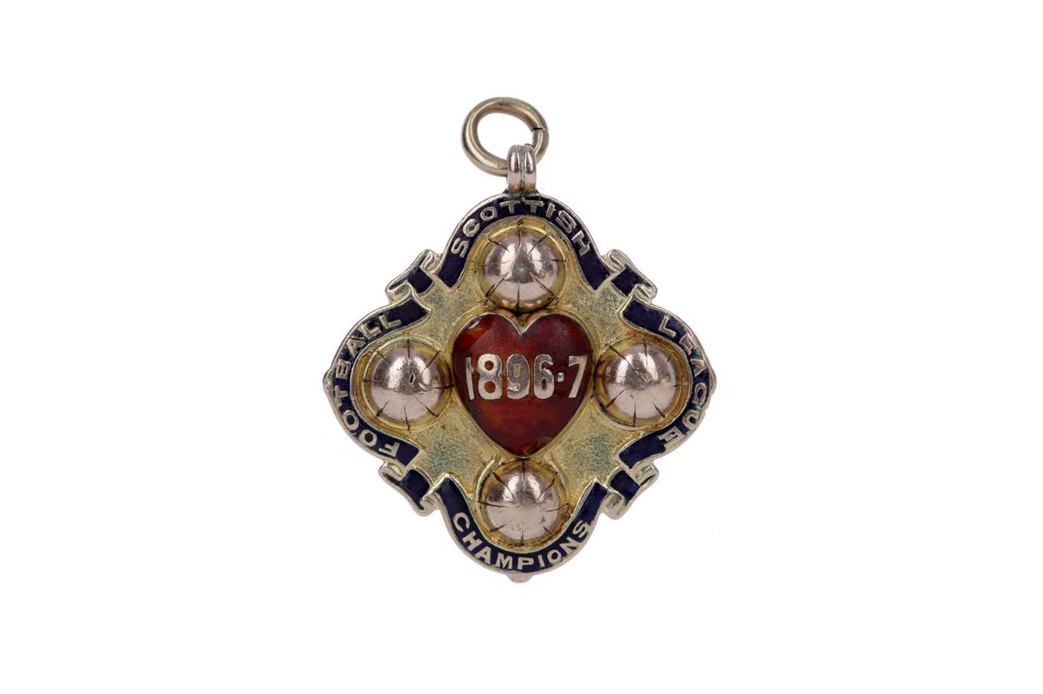 Lot 1705 - TOM ROBERTSON OF HEART OF MIDLOTHIAN F.C. - HIS S.F.L. CHAMPIONSHIP GOLD MEDAL 1896/97