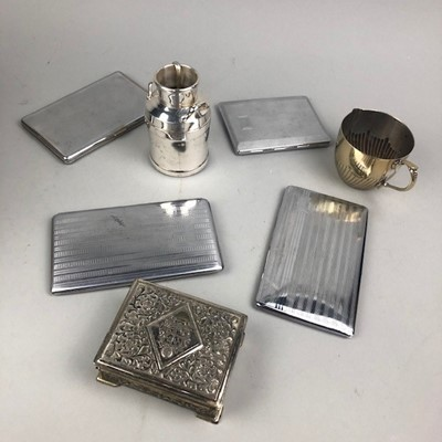 Lot 34 - A LOT OF FOUR SILVER PLATED CIGARETTE CASES