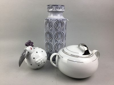 Lot 84 - A WEST GERMAN POTTERY VASE AND OTHER ITEMS