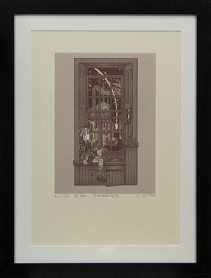 Lot 669 - THE STAR, A SKILSCREEN PRINT BY ALASDAIR GRAY