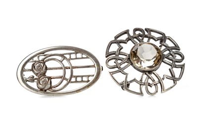 Lot 801 - TWO SCOTTISH SILVER BROOCHES