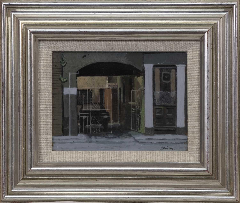 Lot 538 - KELLY'S BAR, ALBIAN STREET, AN OIL BY JOHN KINGSLEY
