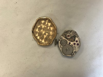 Lot 704 - TWO LADY'S GOLD CASED WRIST WATCHES AND A SILVER GOLD PLATED WRIST WATCH