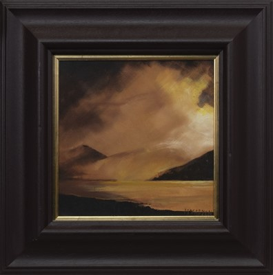 Lot 535 - REST AND BE THANKFUL, AN OIL BY LEX MCFAYDEN