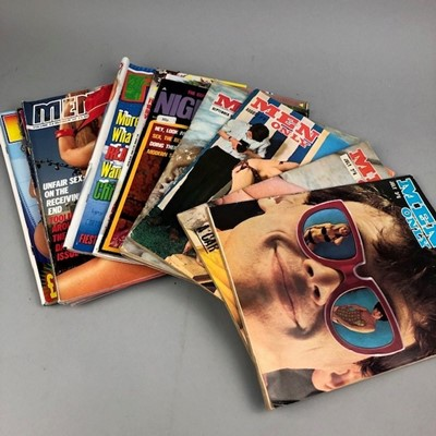 Lot 42 - A LOT OF 'MEN ONLY' AND OTHER MAGAZINES