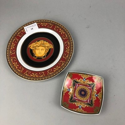 Lot 18 - A ROSENTHAL VERSACE PLATE AND DISH
