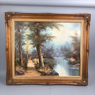 Lot 6 - A LANDSCAPE SIGNED B. COHEN AND TWO OTHERS