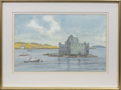 Lot 118 - CASTLE BAY, ISLE OF BARRA, A WATERCOLOUR BY SIR CHARLES MADDEN