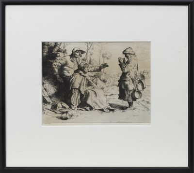 Lot 119 - THE TINKER, AN ETCHING BY WILLIAM STRANG