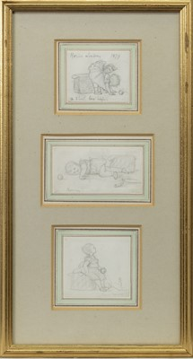 Lot 121 - THREE STUDIES OF RONNIE LINDSAY IN 1879 BY LADY JAME EVELYN LINDSAY