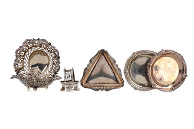 Lot 416 - A LOT OF SILVER INCLUDING BONBON DISHES