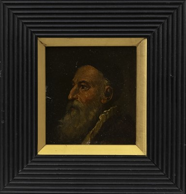 Lot 122 - AN 18TH CENTURY DUTCH PORTRAIT OF A RABBI
