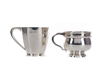Lot 418 - A LOT OF TWO GEORGE V SILVER CHRISTENING CUPS