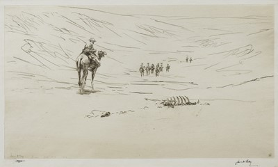 Lot 125 - THE DESERT OF SINAI (NO. 2), AN ETCHING BY JAMES MCBEY