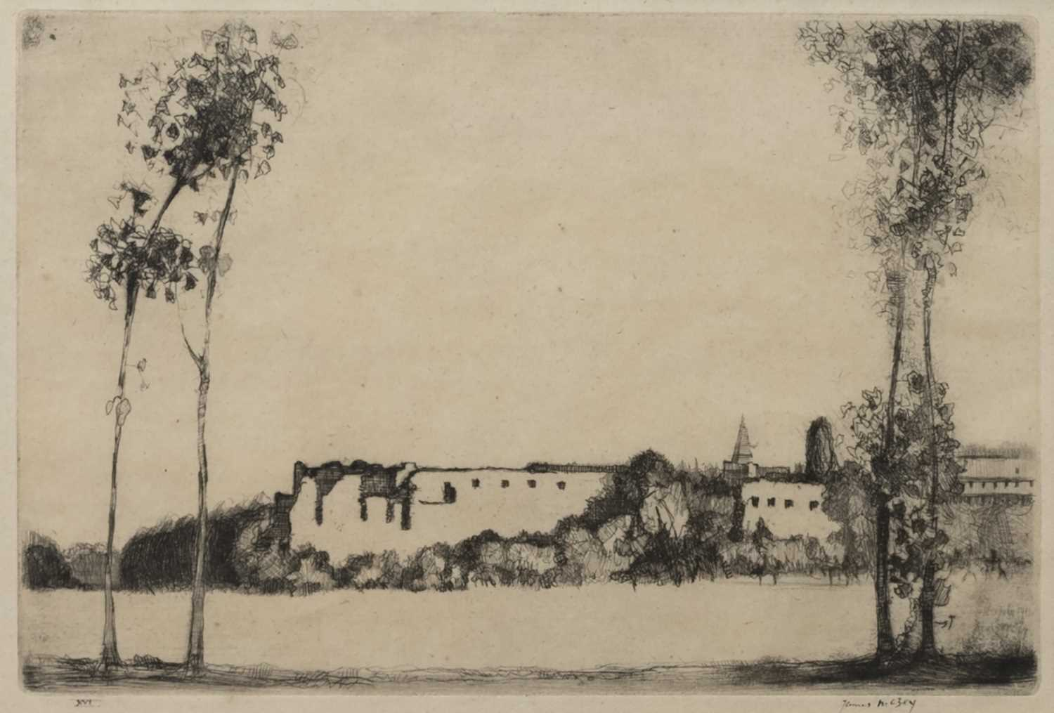 Lot 126 - POITIERS, AN ETCHING BY JAMES MCBEY