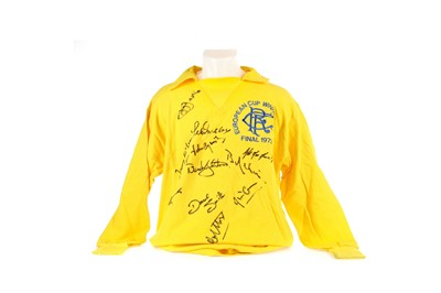 Lot 1716 - A RANGERS F.C. JERSEY SIGNED BY THE EUROPEAN CUP WINNERS CUP 1971/72 SIDE