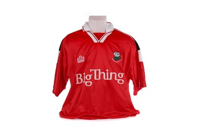 Lot 1723 - JIMMY GRIMBLE - THREE MATCHWORN BARNSLEY F.C. JERSEYS FROM THE FILM, ALONG WITH A PREMIER LANYARD