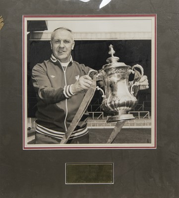 Lot 1730 - A BILL SHANKLY LIVERPOOL F.C. PHOTOGRAPH DISPLAY