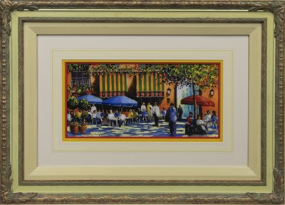 Lot 523 - AT THE BRASSERIE, A PASTEL BY ANTHONY ORME