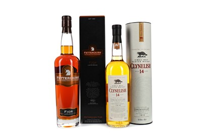 Lot 1 - CLYNELISH AGED 14 YEARS AND FETTERCAIRN FIOR