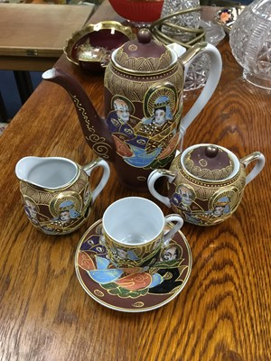 Lot 9 - A JAPANESE COFFEE SERVICE, ALONG WITH ANOTHER TEA SERVICE