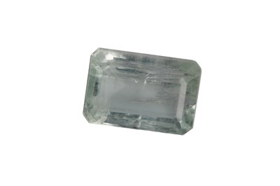 Lot 862 - A CERTIFICATED UNMOUNTED AQUAMARINE