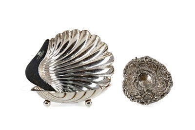 Lot 441 - A PAIR OF EDWARDIAN SILVER SHELL DISHES AND ANOTHER