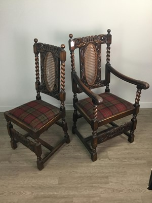 Lot 1336 - A SET OF TEN WALNUT DINING CHAIRS OF RESTORATION DESIGN