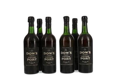 Lot 37 - SIX BOTTLES OF DOW'S 1966