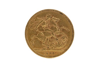 Lot 1 - A QUEEN VICTORIA GOLD SOVEREIGN DATED 1896