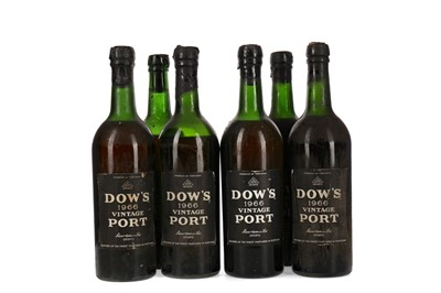 Lot 31 - SIX BOTTLES OF DOW'S 1966 VINTAGE PORT