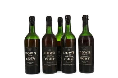 Lot 45 - FIVE BOTTLES OF DOW'S 1996 VINTAGE PORT