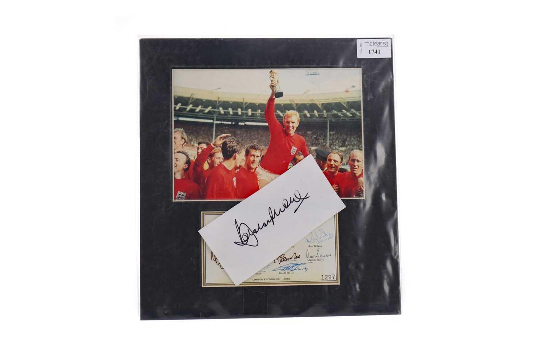Lot 1741 - AN ENGLAND INTERNATIONAL 1966 WORLD CUP WINNERS AUTOGRAPHED DISPLAY