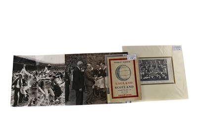 Lot 1747 - AN ENGLAND V SCOTLAND PROGRAMME 1947 AND TWO PICTURES