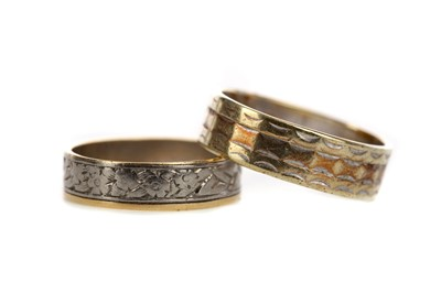 Lot 894 - TWO BICOLOUR WEDDING BANDS