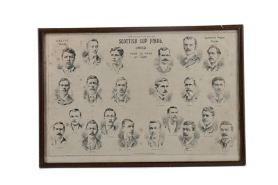 Lot 1757 - A FRAMED CELTIC F.C. VS. QUEENS PARK SCOTTISH CUP FINAL 1892 SUPPLEMENT