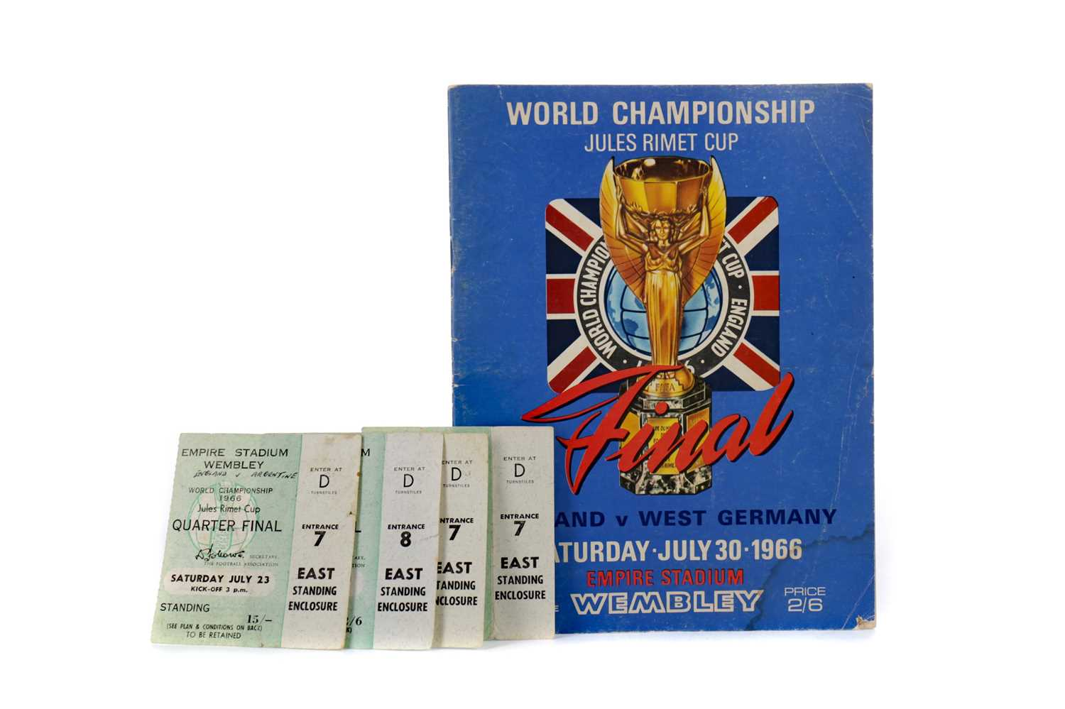 Lot 1758 - AN ENGLAND VS. WEST GERMANY WORLD CUP FINAL PROGRAMME 1966