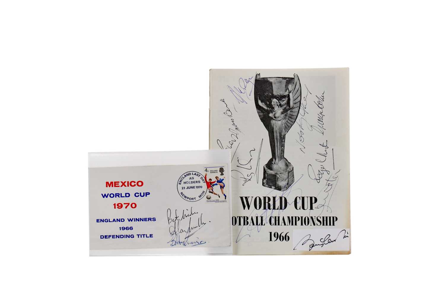 Lot 1759 - AN AUTOGRAPHED WORLD CUP FOOTBALL CHAMPIONSHIP 1966 PROGRAMME AND ANOTHER