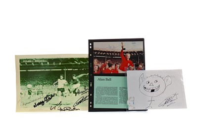 Lot 1760 - AN AUTOGRAPHED PHOTOGRAPH FROM THE 1966 WORLD CUP AND TWO OTHERS