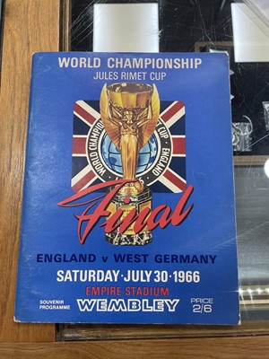 Lot 1761 - AN ENGLAND VS. WEST GERMANY WORLD CUP PROGRAMME 1966