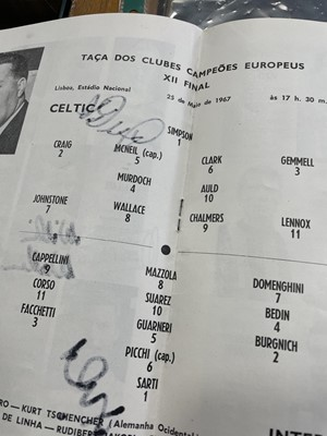 Lot 1763 - AN AUTOGRAPHED CELTIC VS. INTER MILAN EUROPEAN CUP FINAL PROGRAMME 1967