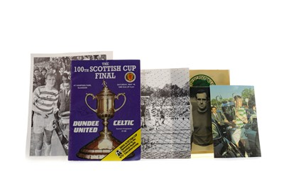 Lot 1764 - A COLLECTION OF AUTOGRAPHED PHOTOGRAPHS OF CELTIC F.C. PLAYERS AND A SIGNED PROGRAMME