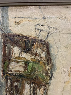 Lot 520 - GLASGOW TRAM, AN ICONIC GLASGOW PAINTING BY HERBERT WHONE