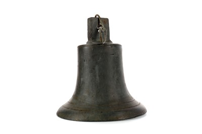 Lot 1344 - AN EARLY 20TH CENTURY BRONZE MESS BELL