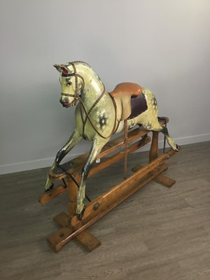 Lot 1352 - A LATE VICTORIAN ROCKING HORSE