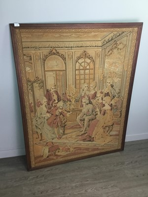 Lot 1354 - A BELGIAN VERDURE TYPE TAPESTRY WALL HANGING