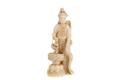 Lot 721 - AN EARLY 20TH CENTURY JAPANESE IVORY CARVING