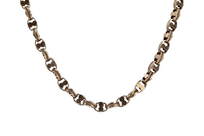 Lot 972 - A GOLD BRACELET AND CHAIN