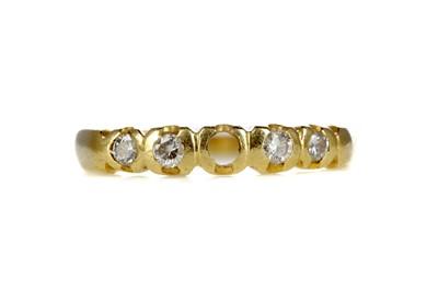 Lot 974 - A PARTIAL DIAMOND RING