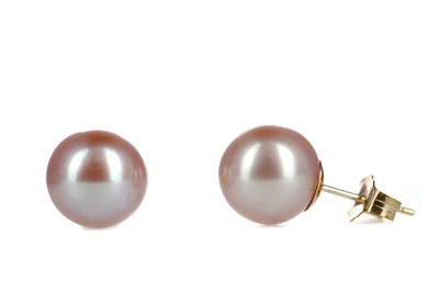Lot 875 - A PAIR OF PEARL STUD EARRINGS